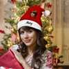 Plush Velvet My Face & Name Personalized Santa Hat - For Man, Woman, Kid