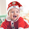 "Plush Velvet My Face & Name Personalized Snowman ""Merry Christmas"" Santa Hat - For Man, Woman, Kid"