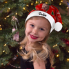 "Plush Velvet My Face & Name Personalized Best Granddaughter ""Merry Christmas"" Santa Hat - For Man, Woman, Kid"