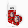 My Name & Face Personalized Snowflake Christmas Stockings - For Man, Woman, Kid