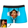White Men's Custom Face On Tearing Boxer Shorts