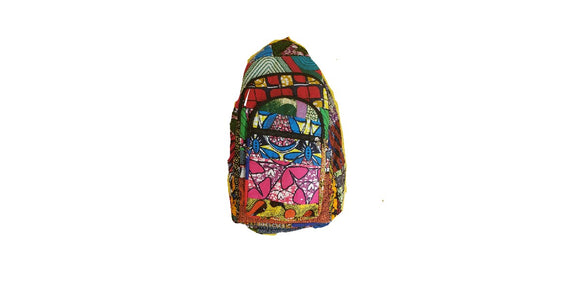 Colorful African Print Bookbag
