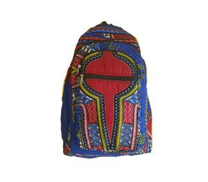 Blue African Dashiki Print Bookbag