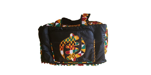 Authentic Handmade African Print Duffel Bag