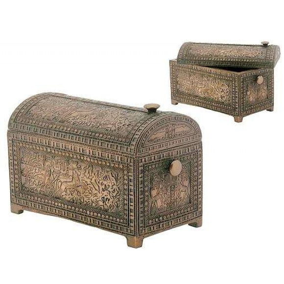 Bronze Pharaoh Trinket Box