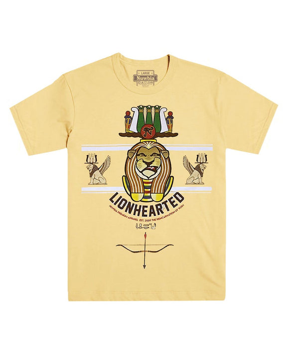 Apedmak/Lion Hearted Yellow Tee
