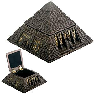 Small Bronze Pyramid Trinket Box