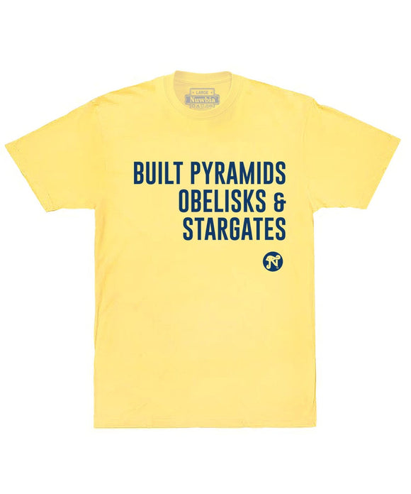 Built Pyramids Yellow Tee