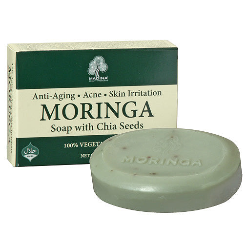 Moringa soap with chia seeds