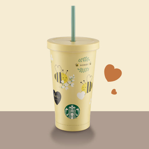 Valentine's Day Honey Bee Stainless Steel Cold Cup 18oz 小蜜蜂不鏽鋼凍杯