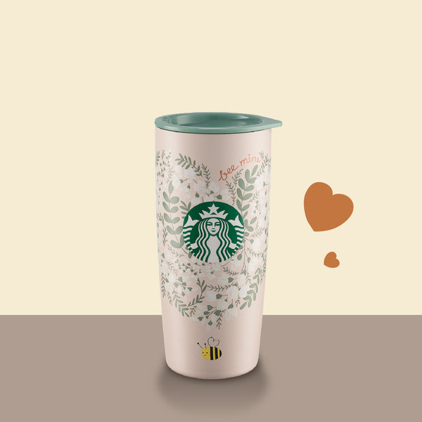 Valentine's Day Bee with Heart Stainless Steel Tumbler 20oz 甜蜜心意不鏽鋼隨行杯
