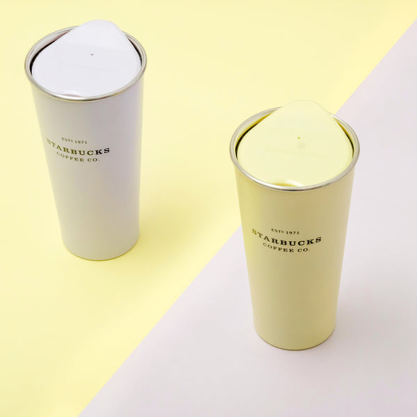 16oz Yellow Chrysanthemum Pastel Stainless Steel Tumbler