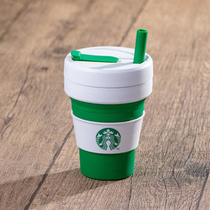 16oz Stojo + Starbucks Green Collapsible Cup