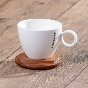8oz Mug with Wooden Coaster/Lid