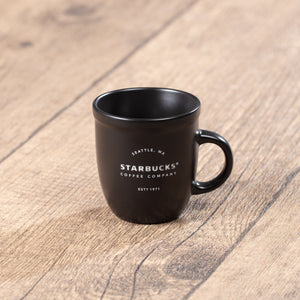 3oz Black Starbucks 1917 Vintage Ceramic Mug