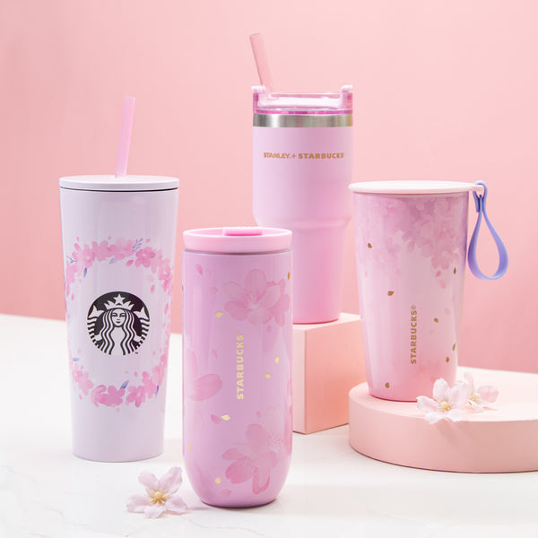 Spring Pink Sakura Wreath Stainless Steel Cold Cup 16oz 粉紅櫻花見頃不鏽鋼凍杯