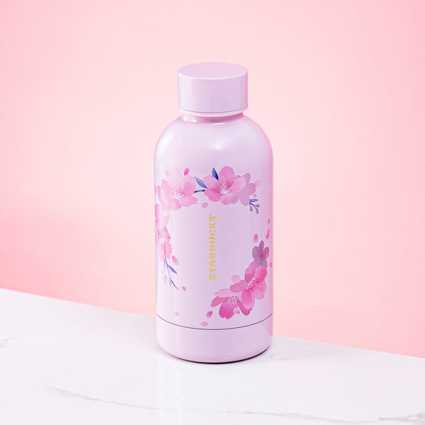Spring21 Sakura Wreath Stainless Steel Water Bottle 13oz 粉紅櫻花見頃不鏽鋼水樽