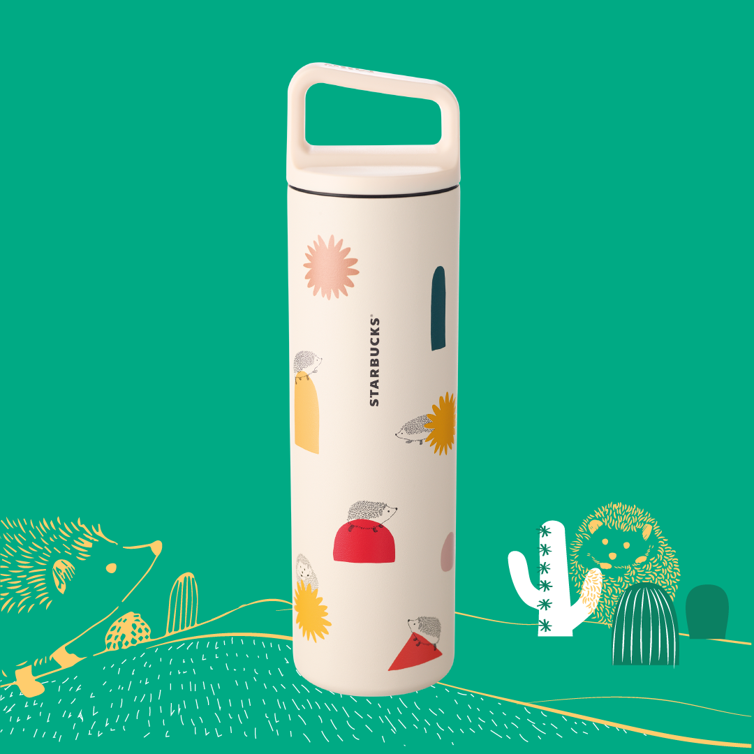 Playful Hedgehog Stainless Steel Water Bottle 20oz 小刺蝟不鏽鋼水樽