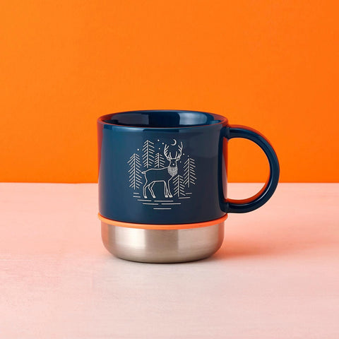 14oz Blue Deer Mug