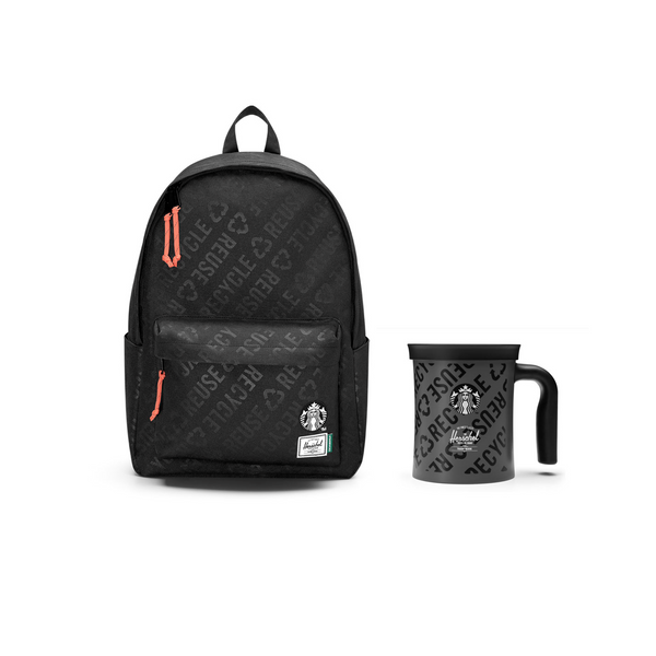 Starbucks x Herschel Supply Co. 12oz Stainless Steel Mug & Classic XL Backpack Set