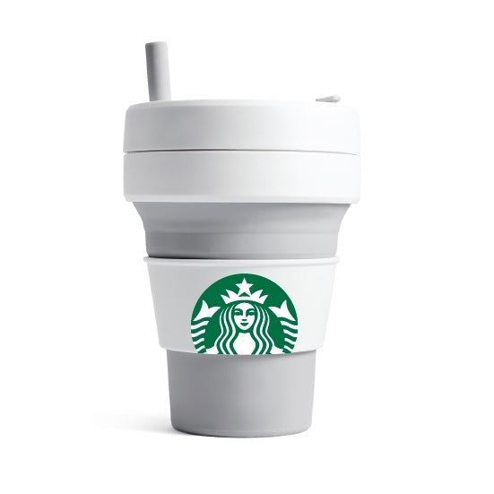 16oz Stojo + Starbucks Dove Collapsible Cup
