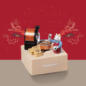 CNY The Ox and Coffee Beans Collectable Music Box 牛仔與咖啡豆音樂盒