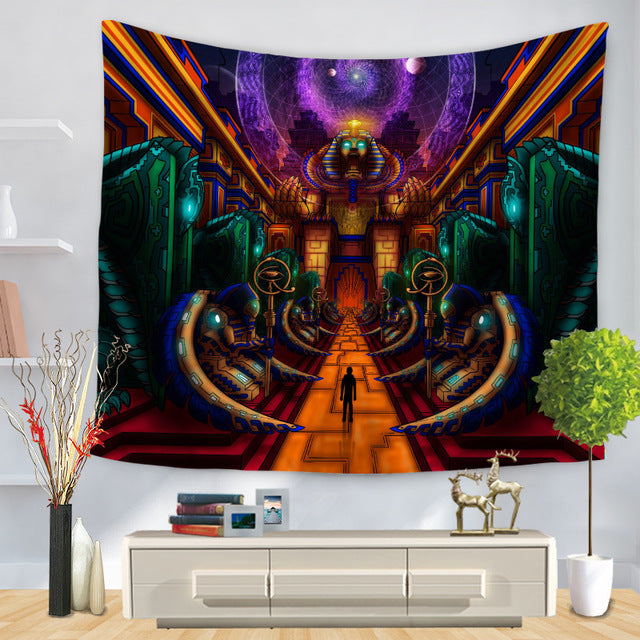 Watercolor Painting Cloth Psychedelic Tapestry