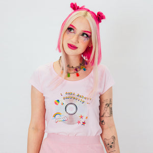 Peach 'I Don't Behave Correctly' Shirt