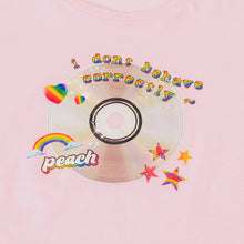 Load image into Gallery viewer, Peach 'I Don't Behave Correctly' Shirt