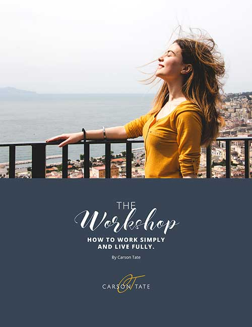 The WORKshop: How to Work Simply and Live Fully