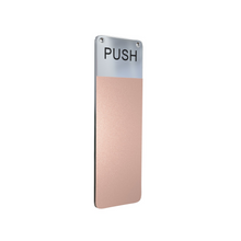 Load image into Gallery viewer, ANTIMICROBIAL COPPER INTERIOR DOOR PUSH HANDLE COVER - $14 Each Available only in a 10 Pack