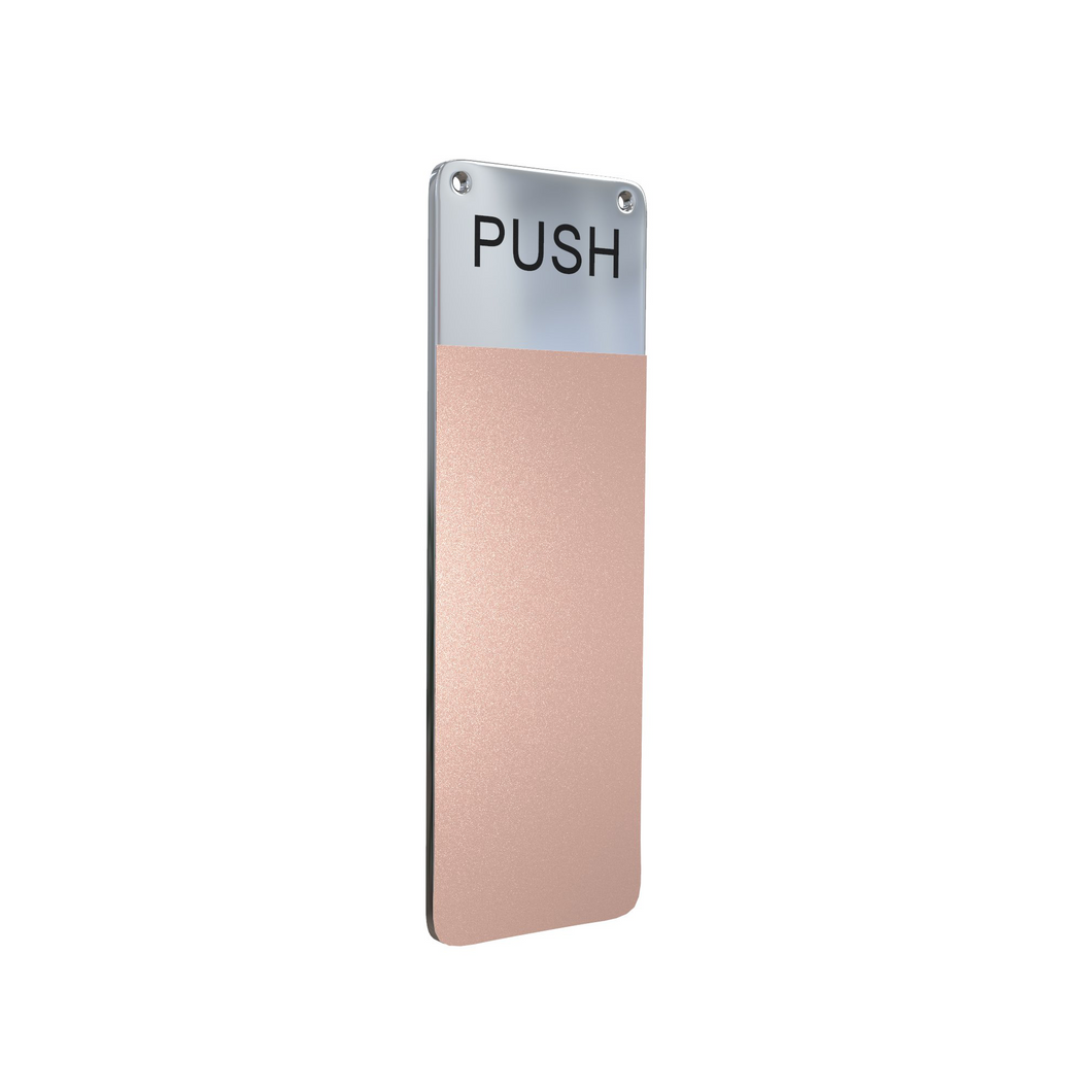 ANTIMICROBIAL COPPER INTERIOR DOOR PUSH HANDLE COVER - $14 Each Available only in a 10 Pack