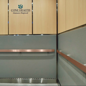 ANTIMICROBIAL COPPER ELEVATOR RAILING COVER