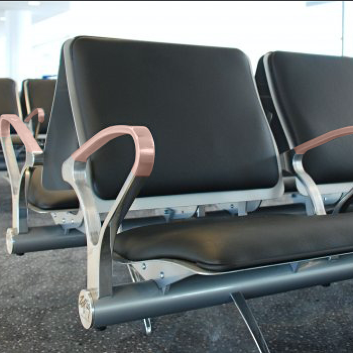 ANTIMICROBIAL COPPER AIRPORT GATE SEATING COVERS
