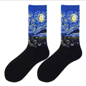 Starry Night Van Gogh Socks