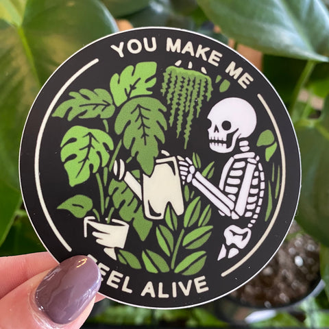 Feel Alive Plant Sticker