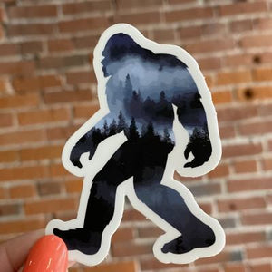 Sasquatch Trees in Fog Sticker