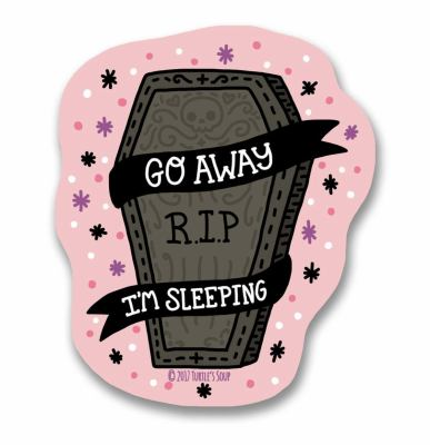 Go Away Coffin Sticker