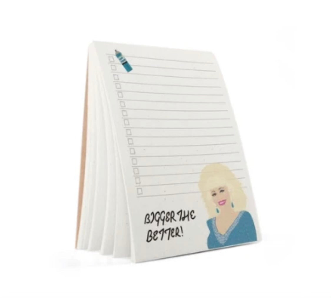 """Bigger the Better"" Dolly Parton Tayham Notebook"