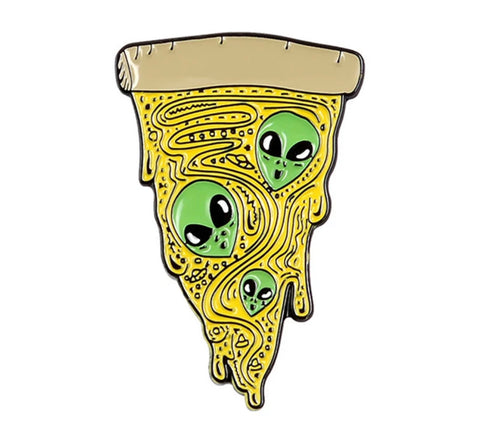 Alien Pizza Pin