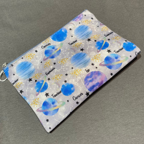Zodiac/Constellation Zip Up Pouch/Cosmetic Bag