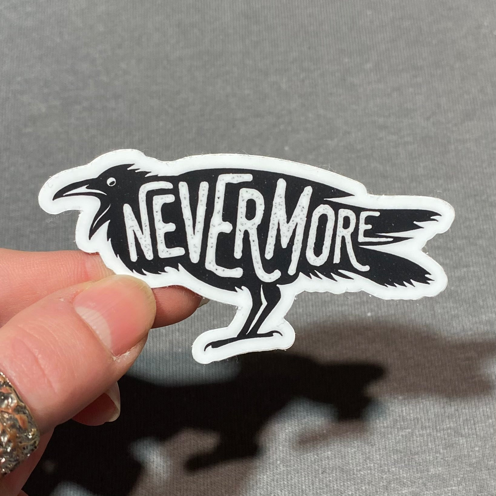 Nevermore Raven Vinyl Sticker