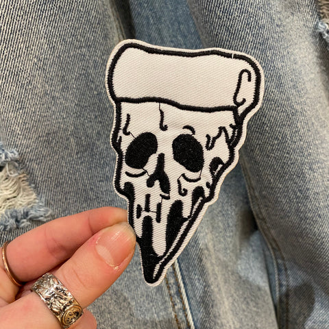Skull Dripping Pizza Patch