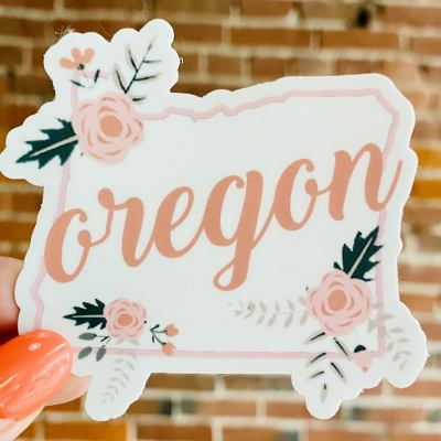 Oregon Floral Sticker