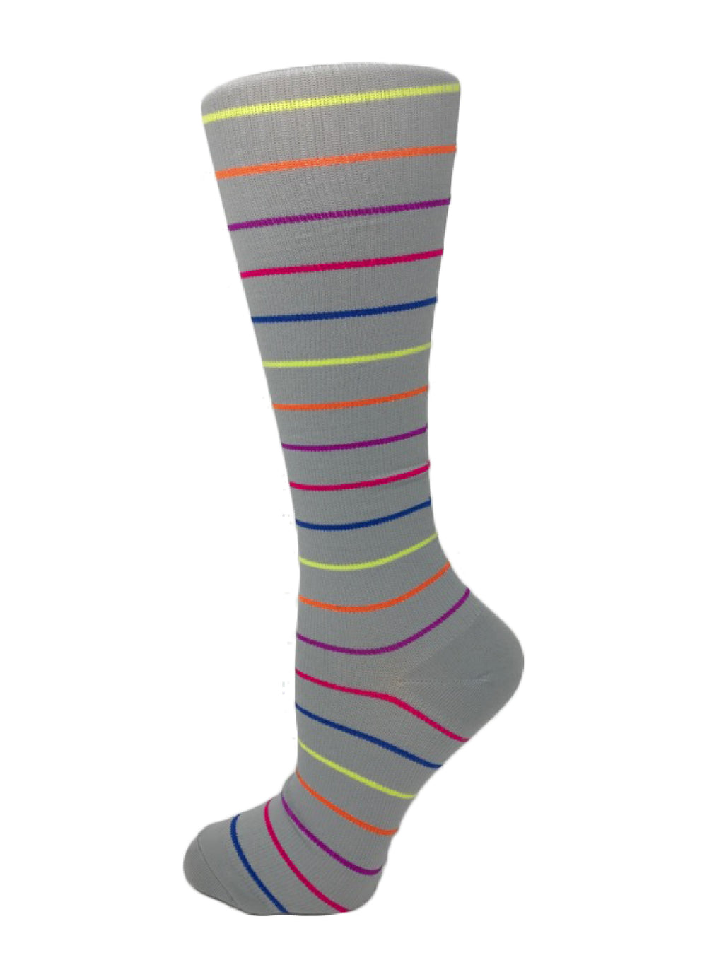 Doctor's Choice Compression Socks – Gray Stripes