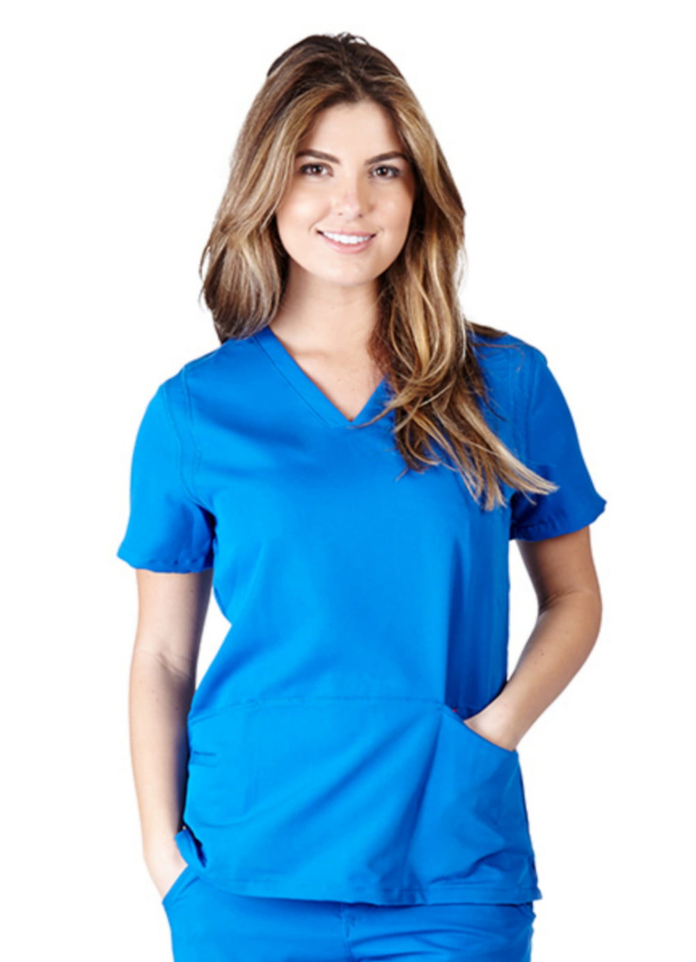 Ultrasoft Junior Fit V-Neck Five Pocket Solid Scrub Top