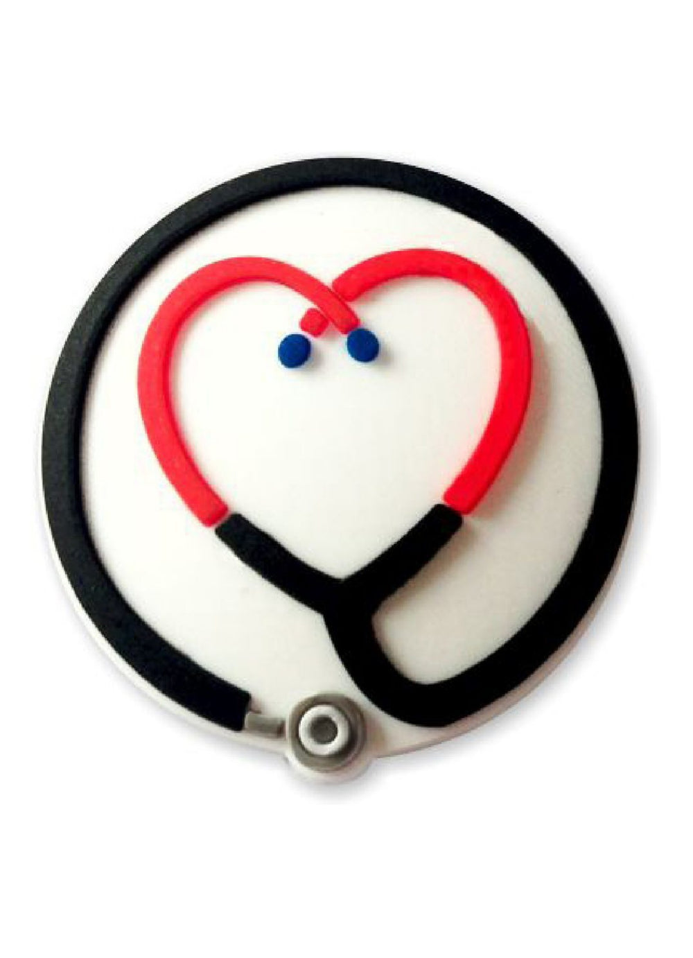3D Rubber Retractable Badge Reel – Stethoscope