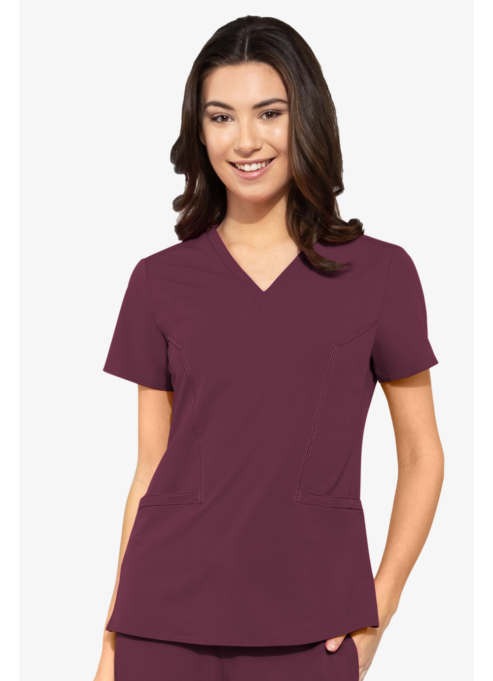 Med Couture Double V Neck Top