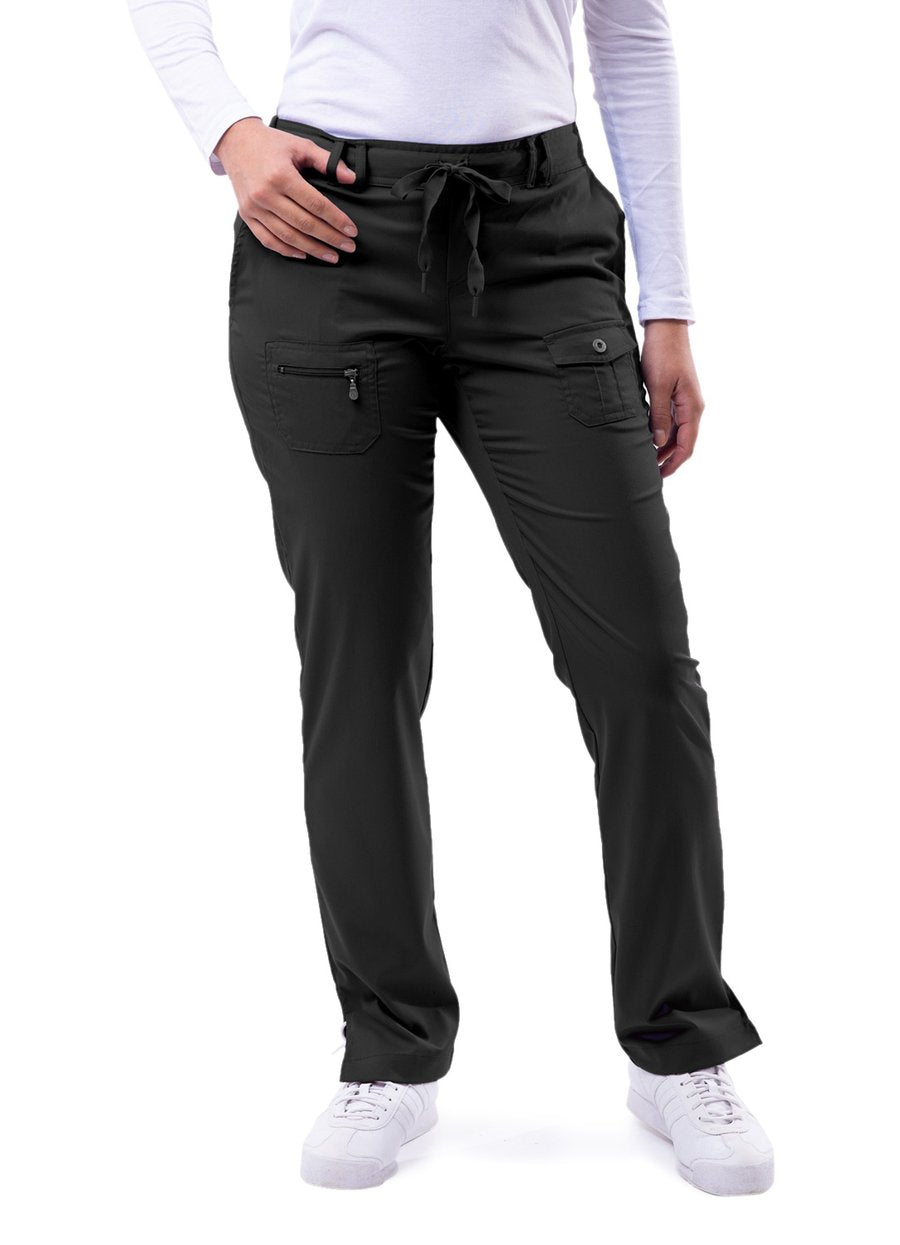 Adar Women's Slim Fit 6 Pockets Pant(Petite)