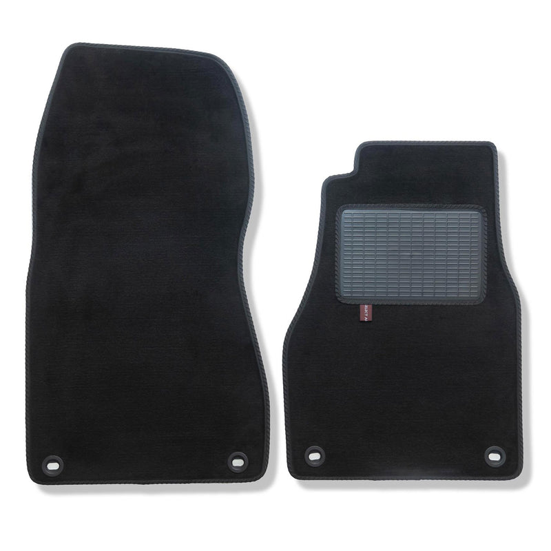 Aston Martin Vanquish 2004 to 2007 over mat set shown in black automotive carpet